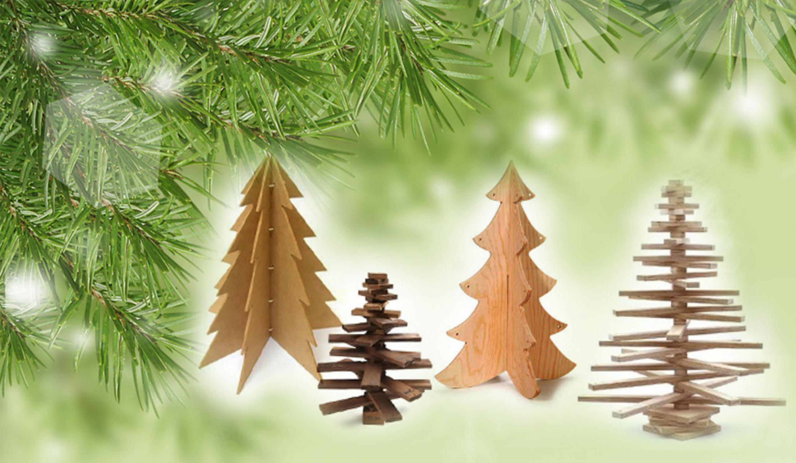Hogyan készítsünk karácsonyfát fából