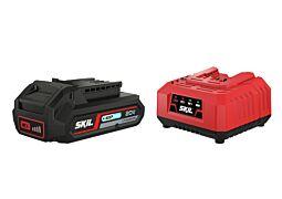 """SKIL 3110 AA Akkumulátor (""""20V Max"""" (18 V-os) 2,5 Ah """"Keep Cool"""" Li-ion) és töltő"""