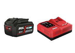 """SKIL 3111 AA Akkumulátor (""""20V Max"""" (18 V-os) 4,0 Ah """"Keep Cool"""" Li-ion) és """"Rapid"""" töltő"""
