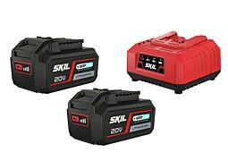 """SKIL 3112 BA Akkumulátorok (""""20V Max"""" (18V) 4,0Ah """"Keep Cool™"""" Li-Ion) és töltő"""