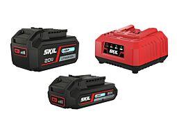 """SKIL Akkumulátorok (""""20V Max"""" (18 V) 2,0 és 4,0 Ah """"Keep Cool™"""" Li-Ion) és töltő"""