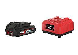 """SKIL Akkumulátor (18 V-os """"20V Max"""" 2,0 Ah """"Keep Cool™"""" Li-ion) és töltő"""
